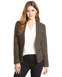 Adrianna Papell - 'marni' Tweed Blazer - Lyst