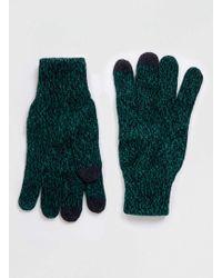 TOPMAN - Green And Black Twist Gloves - Lyst