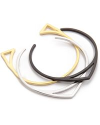 Noir Jewelry Bangle Set  Gold - Lyst