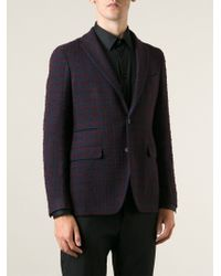 Tagliatore Red Checked Jacket - Lyst
