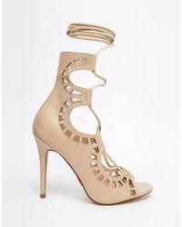 Windsor Smith - Gillie Bone Tie Up Peep Toe Shoes - Lyst