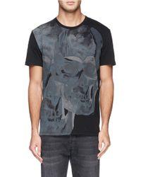 Alexander McQueen Brutalist Print T-Shirt black - Lyst