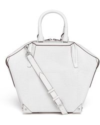 Alexander Wang Emile Small 3d Mesh Leather Tote - Lyst