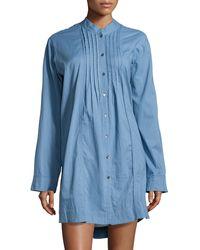 Donna Karan New York Batiste Cotton Sleep Shirt - Lyst