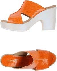 Vicini Tapeet Orange Sandals - Lyst