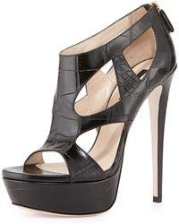 Ruthie Davis - Zendaya Croc-Print Platform Sandal - Lyst