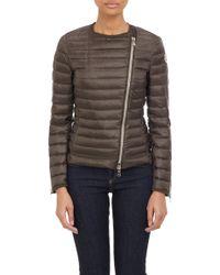 Moncler Amey Asymmetric Zip Puffer Jacket - Lyst