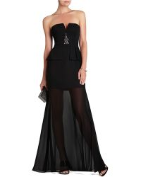 BCBGMAXAZRIA Caitlyn Strapless Embellished Bodice Gown - Lyst