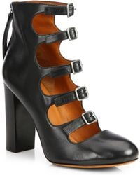 Marc By Marc Jacobs Cutout Leather Ankle Boots - Lyst