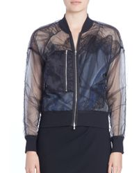 3.1 Phillip Lim | Sheer Lace-trim Bomber Jacket | Lyst