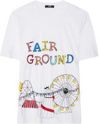 Markus Lupfer Fairground Sequined Cotton Tshirt - Lyst