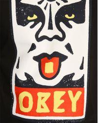 Obey Mega Dose Black T-Shirt - Lyst