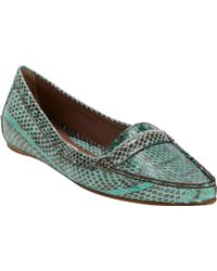 Tabitha Simmons Snakeskin James Loafers - Lyst