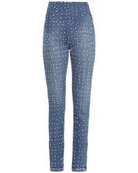 Visvim - High-rise Polka-dot Skinny Jeans - Lyst