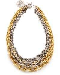Giles & Brother - Two-tone Pave Multi-chain Necklace - Lyst