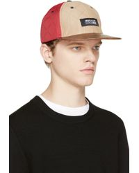 Mostly Heard Rarely Seen - Red And Beige Quilted Cap - Lyst