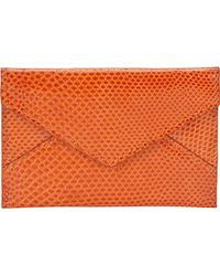 Barneys New York Karung Mini Envelope Pouch orange - Lyst