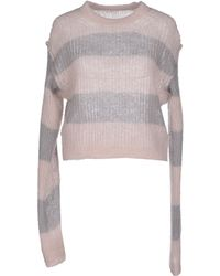 MM6 by Maison Martin Margiela Jumper pink - Lyst