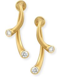 Carelle - 18k Two-piece Earrings With Diamonds - Lyst