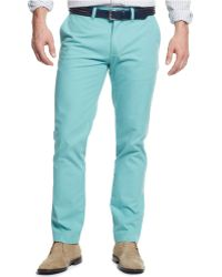 Tommy Hilfiger Slim-Fit Chino Pants blue - Lyst