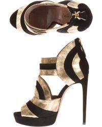 Alaïa | Metallic High Heel Shoes | Lyst