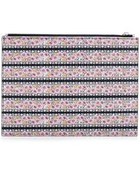 Tabitha Simmons Stripe Shell Printed Small Pouch - Lyst