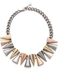 Sarah Magid Large Mixed Metal Cone Necklace - Lyst