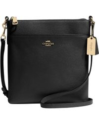 COACH - Textured Leather Swingpack Across Body Bag - Lyst
