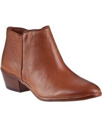 Sam Edelman Petty Ankle Boot Saddle Leather brown - Lyst