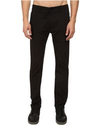 Helmut Lang Corded Cotton Curved Leg Pant - Lyst