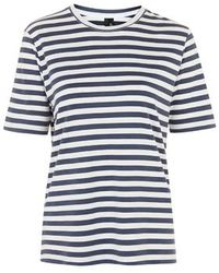 Topshop Striped Crew Neck Tee By Boutique - Lyst
