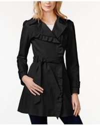 Jessica Simpson - Ruffled Asymmetrical Trench Coat - Lyst