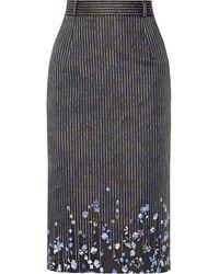 Preen Joselyn Floralprint Cottonblend Pencil Skirt - Lyst