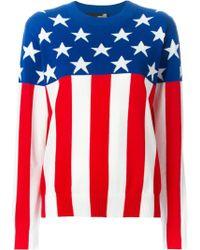 Love Moschino American Flag Sweater - Lyst