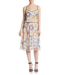 Rebecca Minkoff Catalina Silk-Trimmed Blouson Dress - Lyst