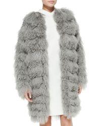 Ralph Lauren Collection Veronica Tiered Shearling Fur Coat - Lyst