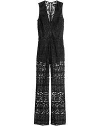 H&M Lace Jumpsuit - Lyst