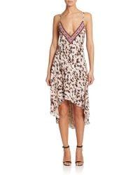 Haute Hippie Embellished Silk Dress multicolor - Lyst