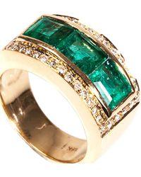 Jade Jagger | Diamond, Emerald & Yellow-Gold Ring | Lyst