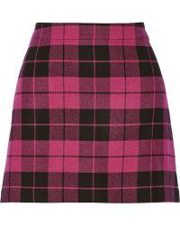 Alice + Olivia Gabel Plaid Twill Mini Skirt - Lyst
