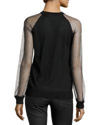 Jason Wu - Lace-Sleeve Sweatshirt - Lyst