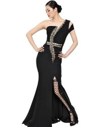 Antonio Berardi Swarovski Embellished Viscose Cady Dress - Lyst