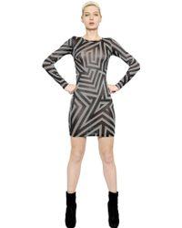 Gareth Pugh Striped Viscose Jacquard Jersey Dress - Lyst