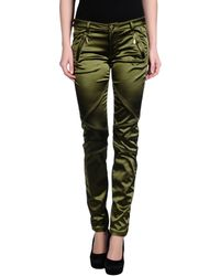 Versace Casual Pants green - Lyst