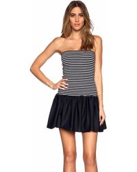 RED Valentino Striped Jersey Dress - Lyst