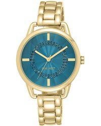 Nine West - Goldtone Teal Bracelet Watch - Lyst