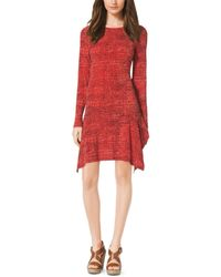 Michael Kors Printed Jersey Dress - Lyst
