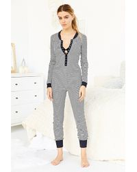 BDG - Long-Sleeve Ribbed Union Jumpsuit - Lyst