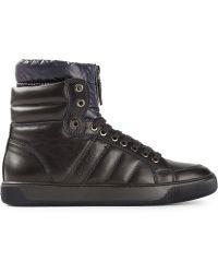 Moncler Blue Hi-Top Sneakers - Lyst