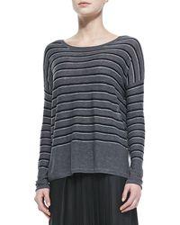 Vince Striped Bateau Neck Sweater - Lyst
